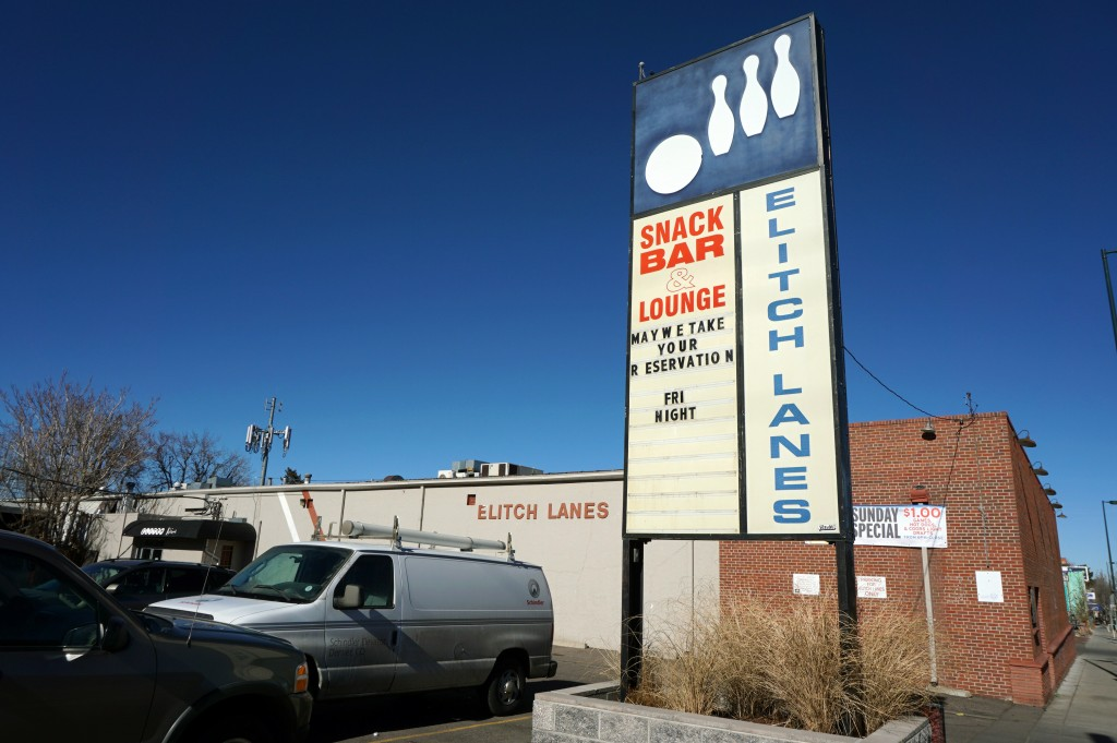 A downtown bowling alley is relocating about six miles from its current location. Photo by Burl Rolett.