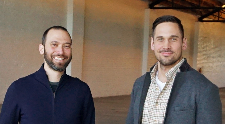 Haritos (left) and Predovich are setting up a shared office space on Broadway. Photo by Burl Rolett.