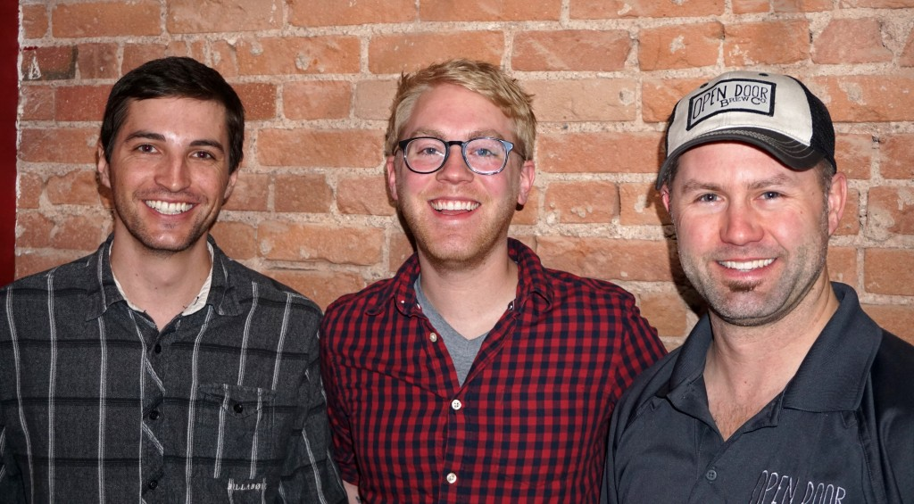 From left: Michael Badaracca, Andy Riedel and Billy McDivitt are launching a beer venture. Photo by Burl Rolett.