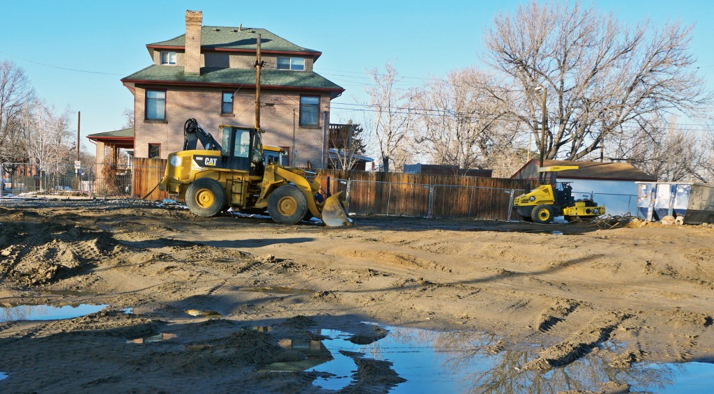Bank of the West is beginning work on its new branch. Photo by Burl Rolett.