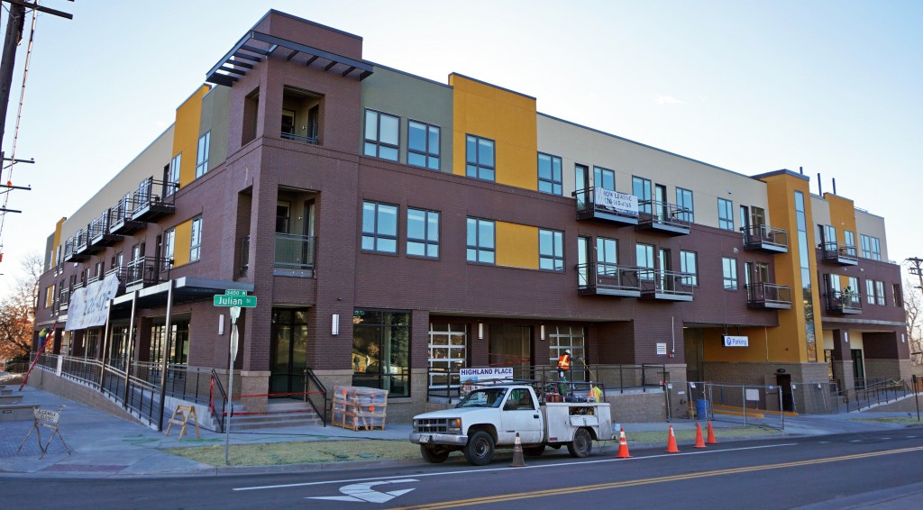 A new apartment building in the Highlands is moving in its first tenants.Photo by Burl Rolett.