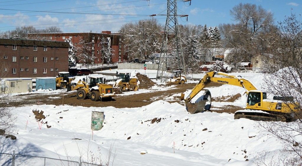 Construction is underway on the Ruby Hill Residences low-income apartment project. Photo by Burl Rolett.