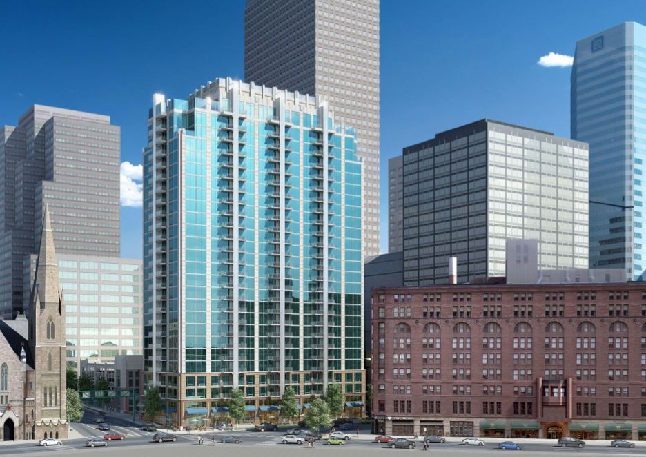 Downtown S 100m Apartment Tower Breaks Ground Businessden