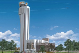 Punch Bowl plans to open in the old Stapleton air traffic control building. Image courtesy of Punch Bowl Social