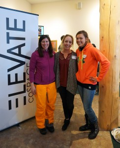From left: Event organizers Amy Kemp, Rebecca Bowden and Gabrielle Tinner.