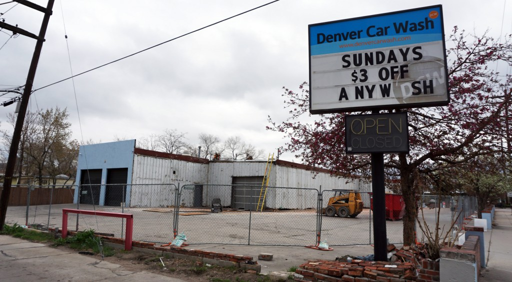An expanding car wash company will take over a vacant car wash property. Photos by Burl Rolett.