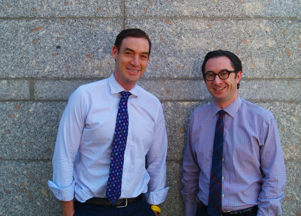 Justin Borus (left) and Bryan Abrams of investment firm Lazarus. Photo by Aaron Kremer.