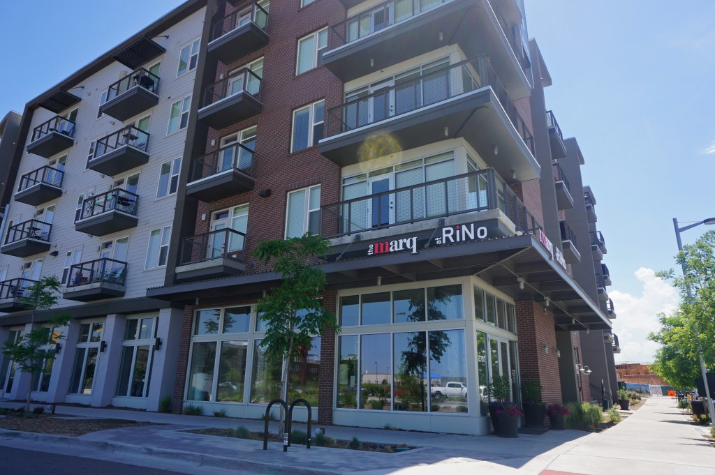 New owners have already rebranded a RiNo apartment complex. Photos by Burl Rolett.