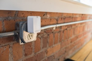 Notion sensors send signals to a Wi-Fi connected plug-in that forwards messages to smartphones.