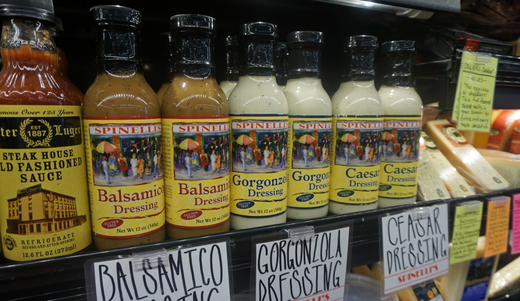 Spinelli's Sauce Co., known for its pasta sauce, recently expanded into salad dressings. Photos by Burl Rolett.