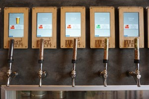 First Draft uses touch-screen tablets for ordering.