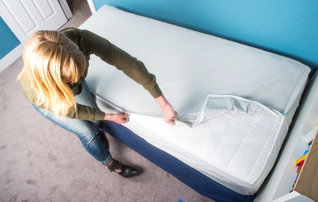 QuickZip sheets do away with the normal fitted sheet. Photos courtesy of QuickZip.