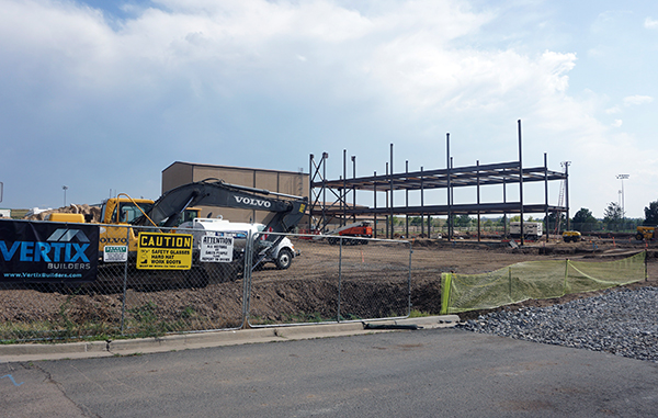 Construction work is getting up and running on a new nursing facility. Photo by Burl Rolett.