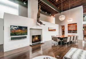 The home's features include a chef's kitchen, wine room, theater and salt water pool.