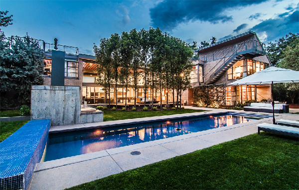 A custom home at 100 S. Marion Parkway is up for grabs. Photos courtesy of The Wolfe Group.
