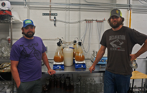 Mike Blandford (left) and Greg Schlichting are expanding their brewery deal. Photos by George Demopoulos.