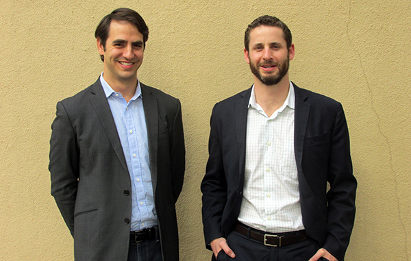 Berk (left) and Dworkis have gotten their investment fund off the ground. Photo by Aaron Kremer.
