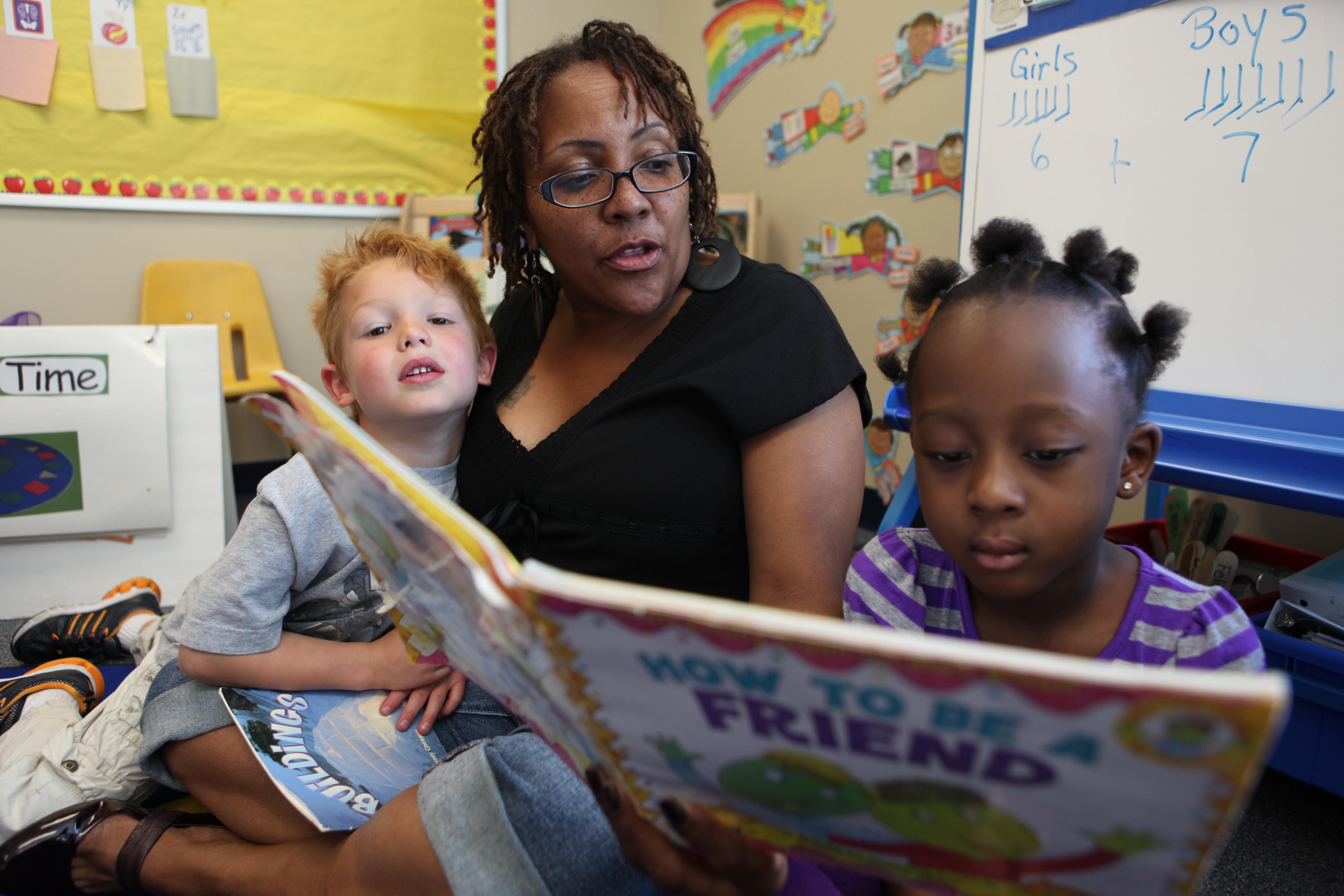 Ability Connection Colorado students practice reading. Photos courtesy of ACCO.