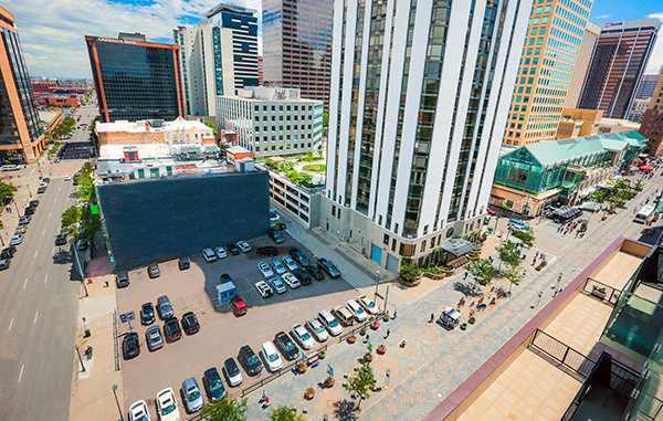 The lot called Block 47 near the 16th Street Mall sold last week. Photo courtesy of CBRE.