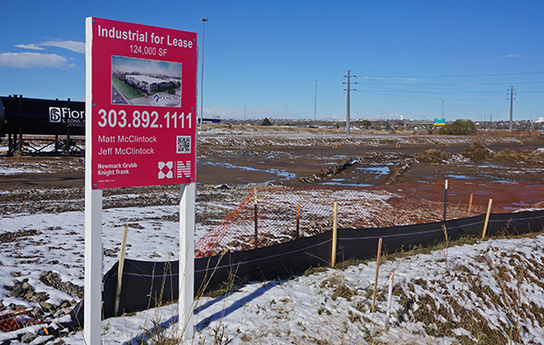 A new set of warehouses are planned for a lot near the interstate. Photo by Burl Rolett.