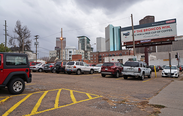 A developer has bought a Champa Street lot with plans for apartments. Photo by Amy DiPierro.
