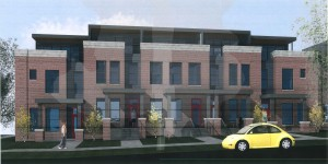 Plans call for three groups of townhomes at 14th Avenue and Vine Street.