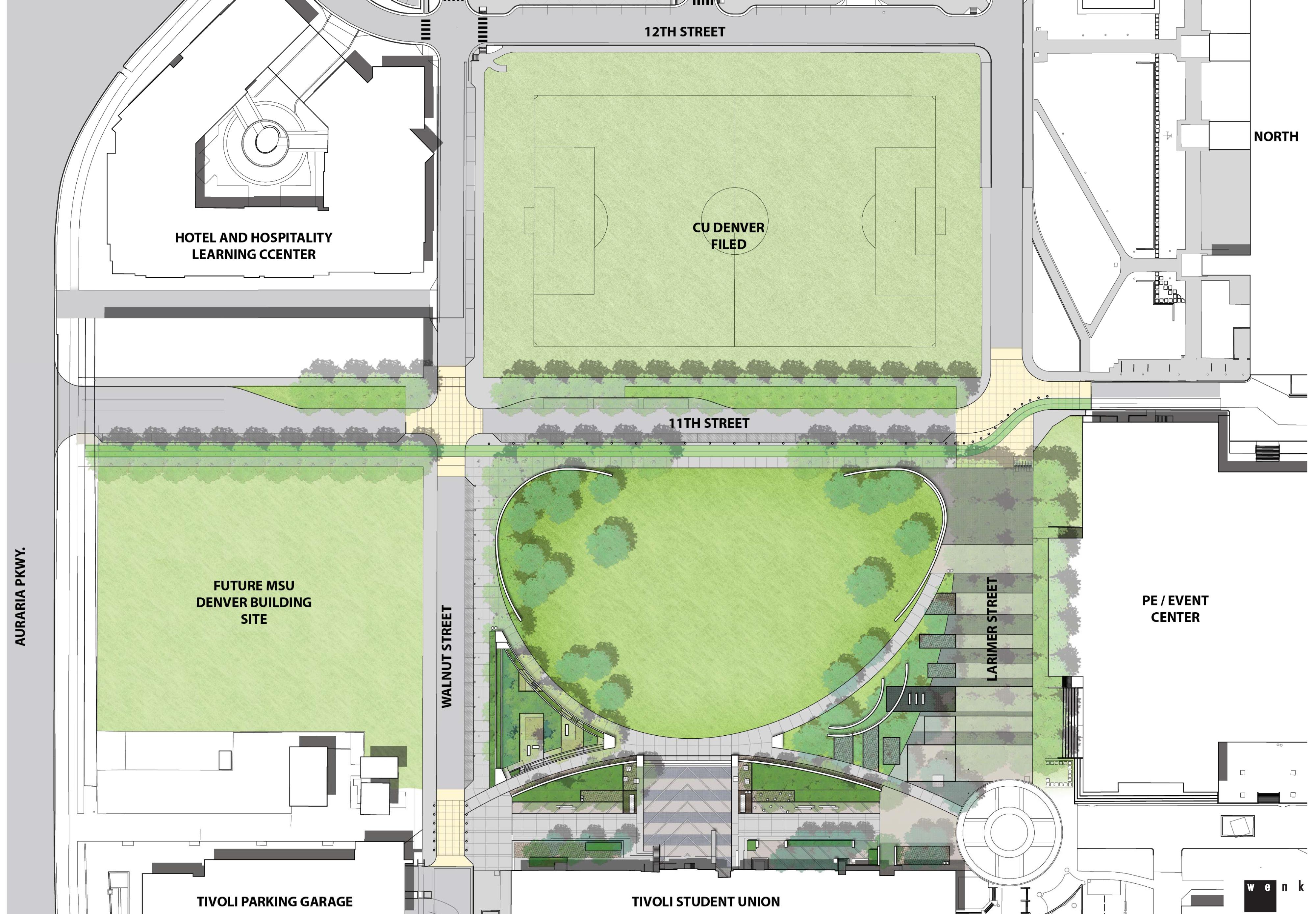 Auraria Campus Digging Into 6 5m Quad Businessden