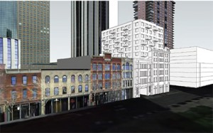 Rendering from the plan filed with the city.