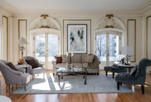 The condo's living room