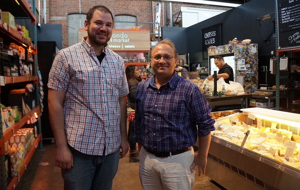 Michael Davis Nicolas Farrell, owners of MondoMarket at The Source, and soon at Stanley Marketplace. (Amy DiPierro)