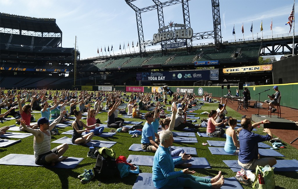 Pro Positive's Yoga Day at Safeco Field in Seattle. (Courtesy Pro Positive)