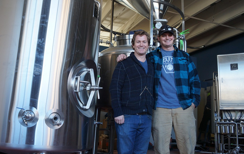 Co-founders T.J. Slattery and Willy Truettner plan to open Zuni Street Brewing's taproom in February. (Amy DiPierro)