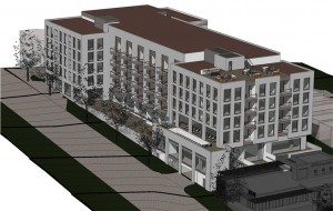 A rendering of the proposed apartments in LoHi.