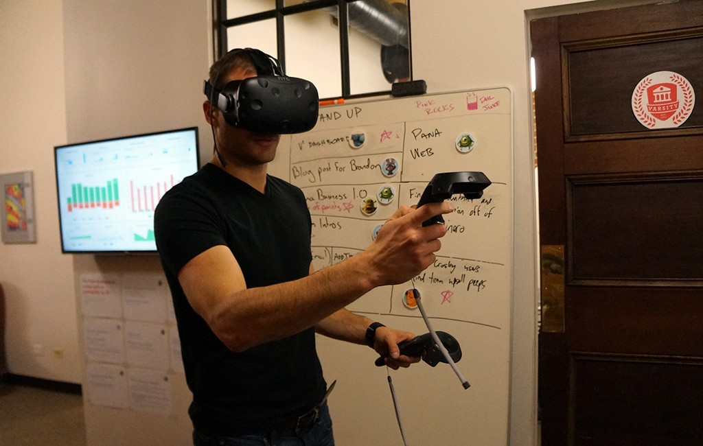 Founder Pascal Wagner takes a Walkthrough virtual tour. (Amy DiPierro)
