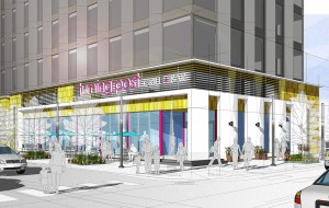 A rendering of the planned storage site above ground-floor retail. (Courtesy VanWest Partners)