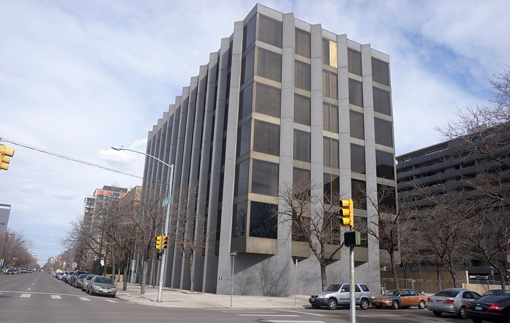 The former DPS Administration building at Ninth Avenue and Grant Street in Capitol Hill will be converted into a self-storage facility. (Burl Rolett)