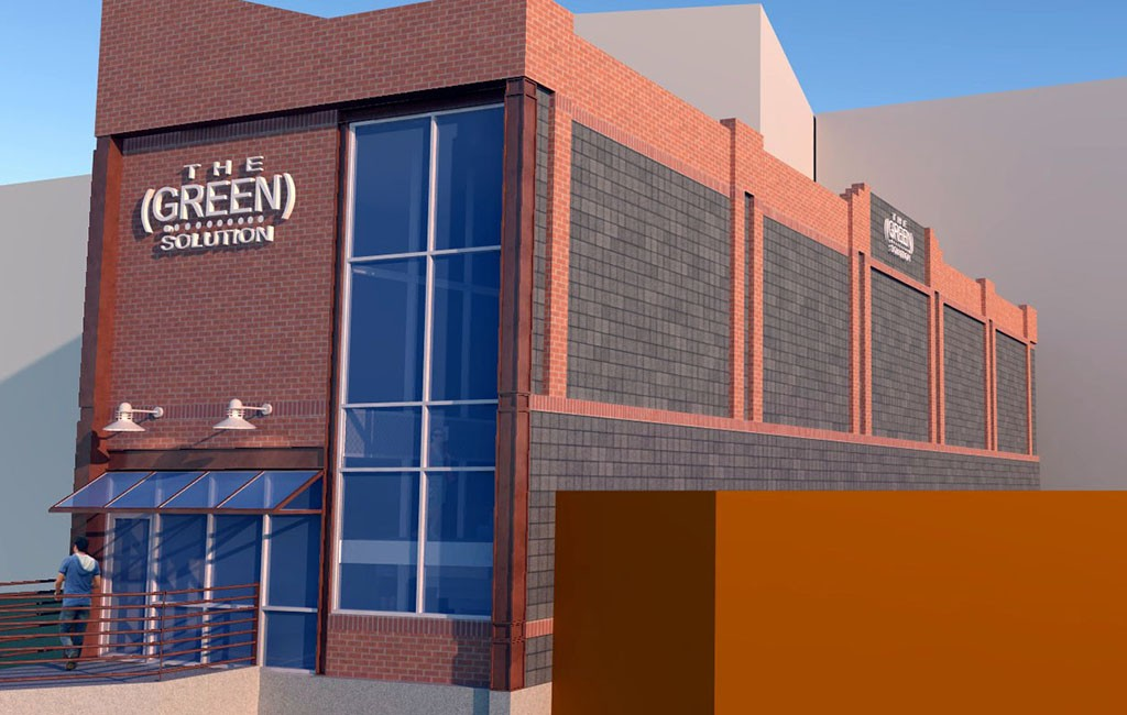 A rendering of the planned 4,000-square-foot dispensary. (Courtesy The Green Solution)
