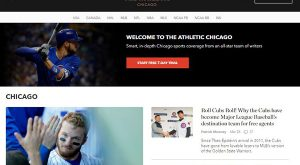 the athletic website